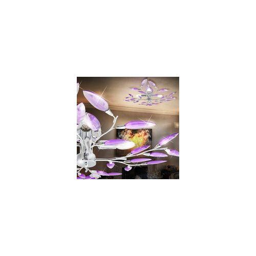 GGM Moebel CAMILLA Blätter Deckenleuchte Ø620mm Floral - Florentiner Lila A++ 4x40W E14    GGM Moebel