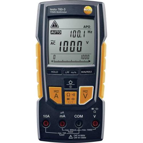 Testo, Multimeter, Hand-Multimeter digital 760-3 (CAT III 1000V, CAT IV 600V)