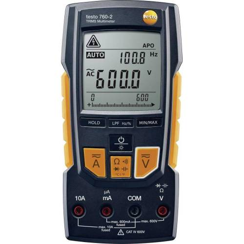 Testo, Multimeter, Hand-Multimeter digital 760-2 (CAT III 1000V, CAT IV 600V)