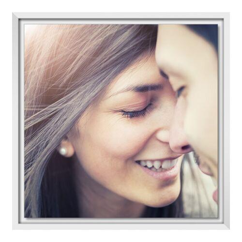 Bilder auf Forex im Schattenfugen Rahmen in weiß im Format 18 x 13 cm