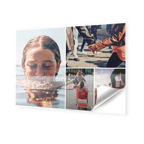 Fotocollage auf Klebefolie im Format 18 x 13 cm