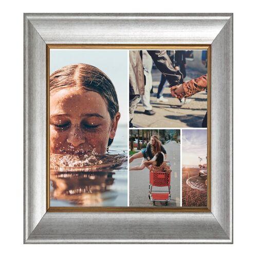 Fotorahmen Holz antik in silber