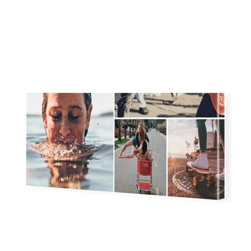 Leinwand mit Fotocollage als Panorama im Format 80 x 40 cm