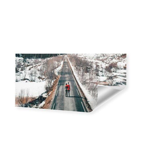 Druck auf handgeschöpftes Papier als Panorama im Format 150 x 75 cm