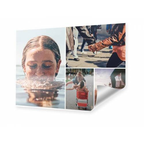 Collagen auf Poster im Format 140 x 105 cm
