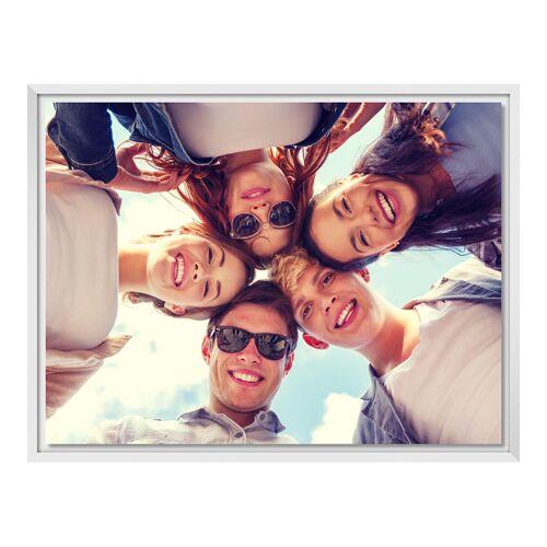 Foto auf Leinwand im Schattenfugen Rahmen für Fotos auf Leinwand in weiß im Format 40 x 30 cm