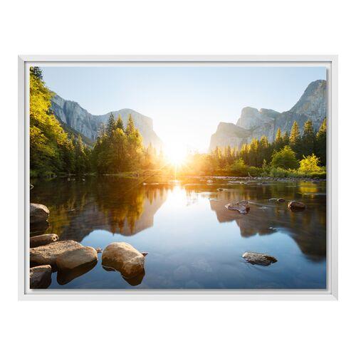 Foto auf Leinwand im Schattenfugen Rahmen für Fotos auf Leinwand in weiß im Format 80 x 60 cm