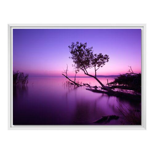 Bilder auf Leinwand im Schattenfugen Rahmen für Fotos auf Leinwand in weiß im Format 120 x 80 cm