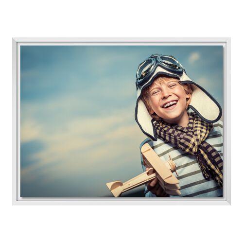 Foto auf Leinwand im Schattenfugen Rahmen für Fotos auf Leinwand in weiß im Format 28 x 21 cm