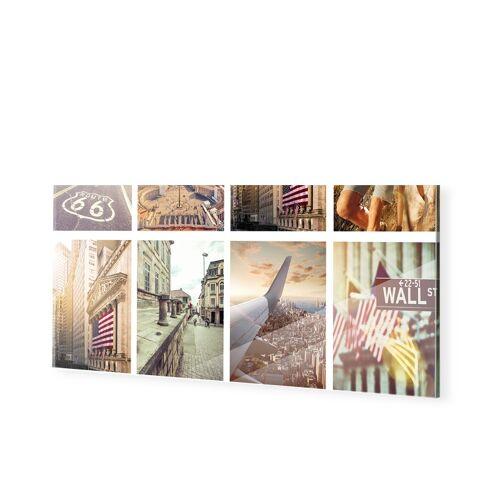Collage auf Echtglas als Panorama im Format 125 x 50 cm