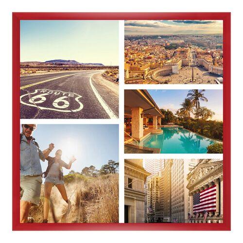 Bilderrahmen Holz in rot als Panorama im Format 20 x 10 cm