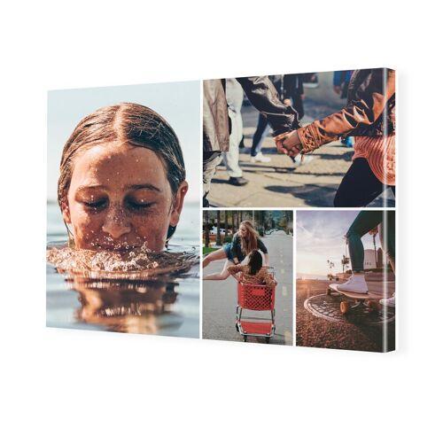 Fotocollage als Leinwand im Format 32 x 18 cm