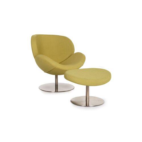BoConcept Ogi Stoff Sessel inkl. Hocker Grün Limettengrün Drehstuhl #12928