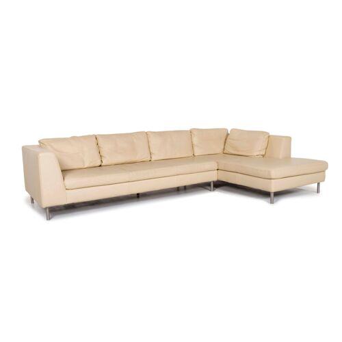 Ewald Schillig Leder Ecksofa Creme Sofa Couch #13235
