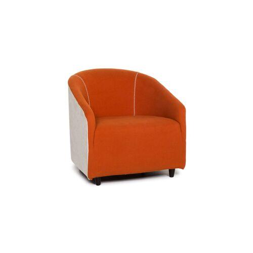 Minotti Stoff Sessel Orange Weiß #13247