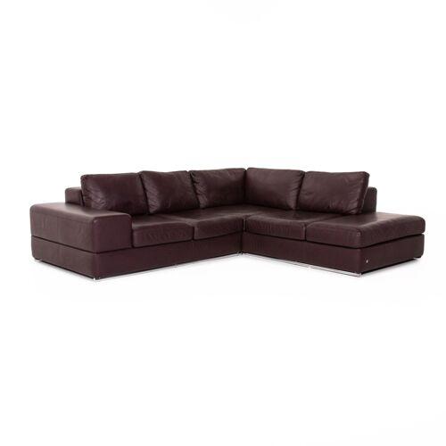 Musterring Leder Ecksofa Violett Sofa Couch #13675