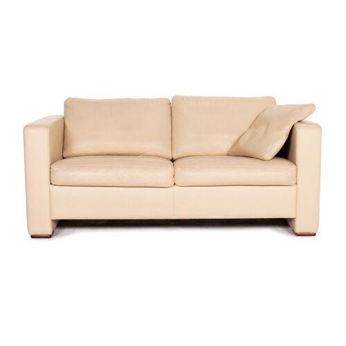 Machalke Leder Sofa Beige Zweisitzer Couch #14786