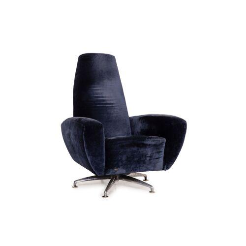 Bretz Stoff Sessel Blau Wippfunktion