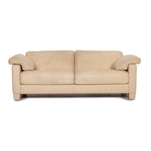 de Sede DS 17 Leder Sofa Creme Zweisitzer Couch #15465