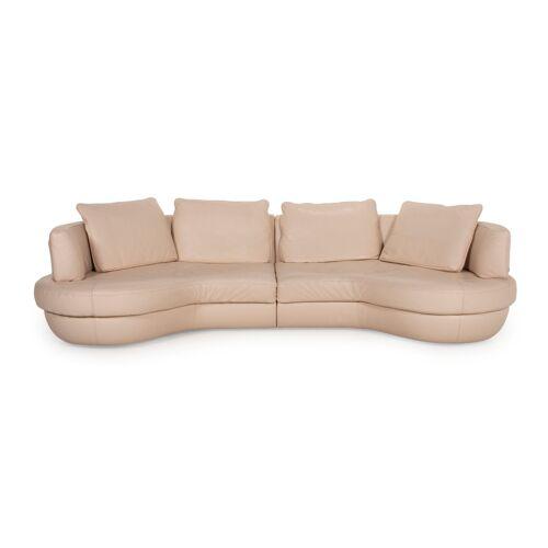 Natuzzi Leder Ecksofa Creme Funktion Sofa Couch