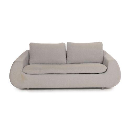 Rolf Benz Stoff Sofa Grau Zweisitzer Couch
