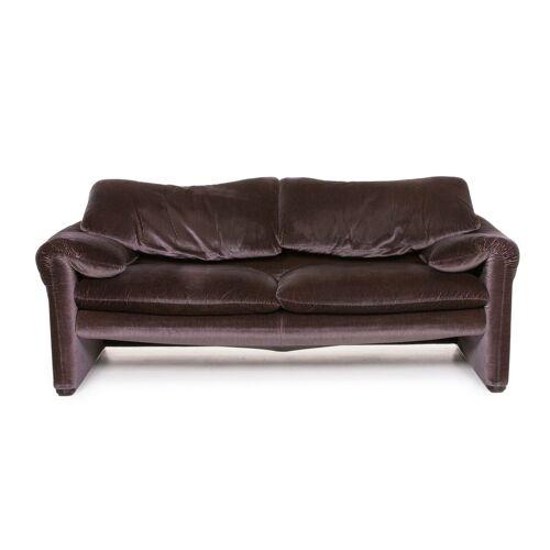 Cassina Maralunga Stoff Sofa Violett Aubergine Dreisitzer Funktion Couch