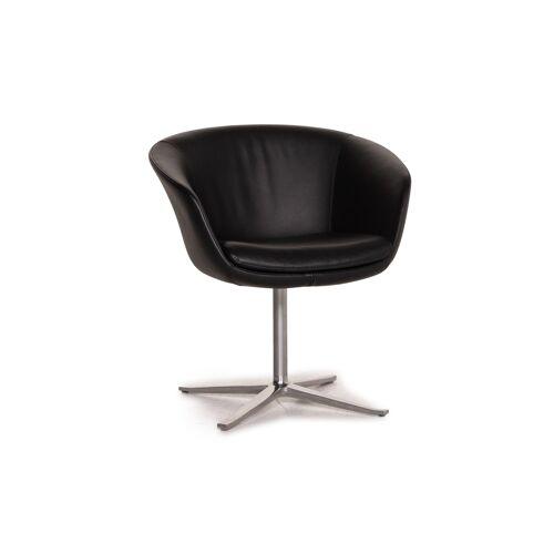 Walter Knoll Leder Sessel Schwarz Stuhl #15598