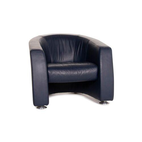 Rolf Benz Leder Sessel Blau