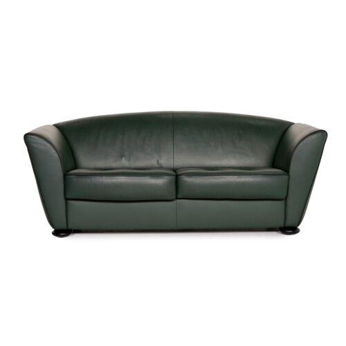 Cor Zelda Leder Sofa Grün Zweisitzer Couch
