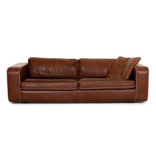 Machalke Valentino Leder Sofa Braun Dreisitzer Couch