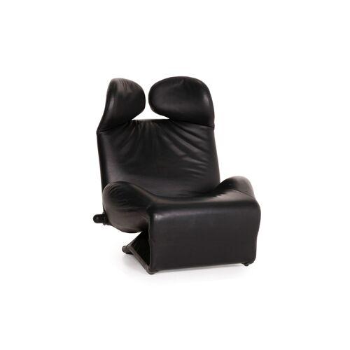 Cassina Wink Leder Sessel Schwarz Relaxfunktion Funktion Relaxsessel