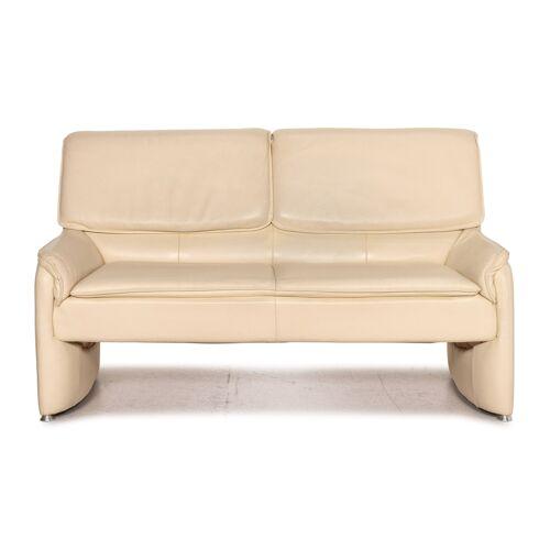 Laauser Leder Sofa Creme Zweisitzer Funktion Couch
