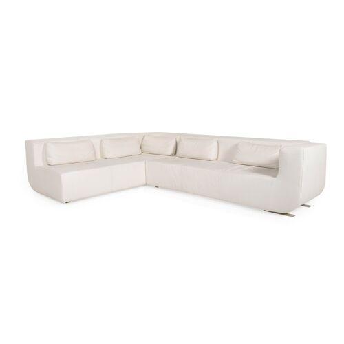 Cor Nuba Leder Ecksofa Creme Sofa Couch