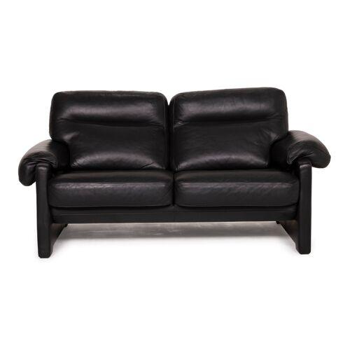 de Sede ds 70 Leder Sofa Schwarz Zweisitzer