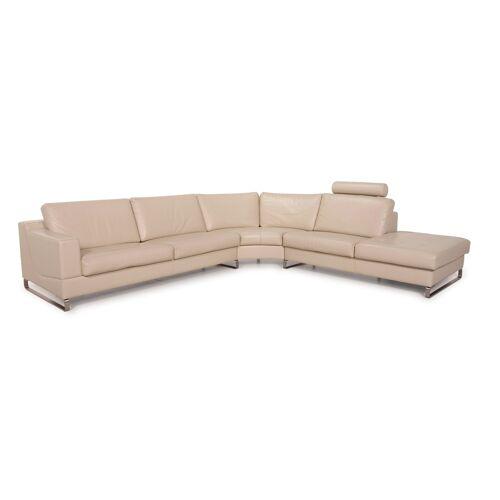 Leolux Leder Sofa Creme Ecksofa Funktion
