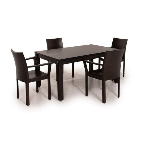 bulthaup Korpus nemus Esszimmer Garnitur Dunkelbraun 1x Esstisch 2x Stuhl Tisch