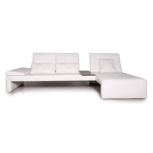 Koinor Raoul Leder Ecksofa Weiß Funktion Sofa Couch