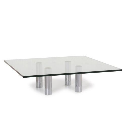 Draenert Glas Couchtisch Silber Tisch #12250