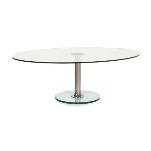 Draenert Glas Couchtisch Silber #12804