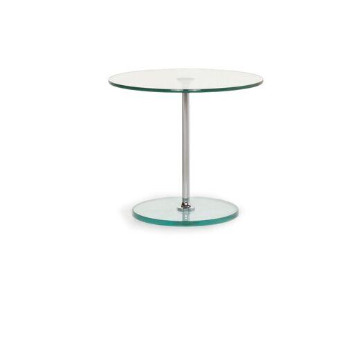 Draenert Largo 1010 Glas Tisch Silber Couchtisch #13065