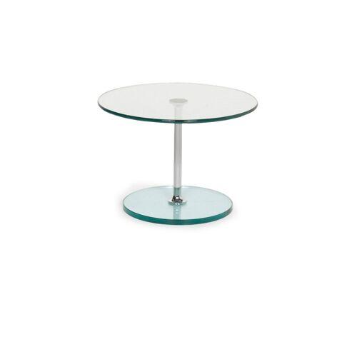 Draenert Largo 1010 Glas Tisch Silber Couchtisch #13067