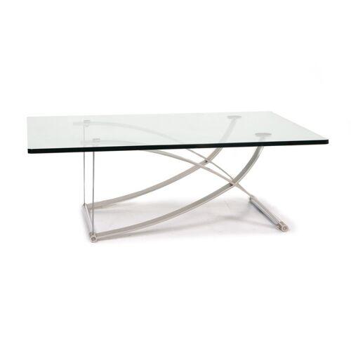 Rolf Benz Glas Couchtisch Metall Tisch #13525