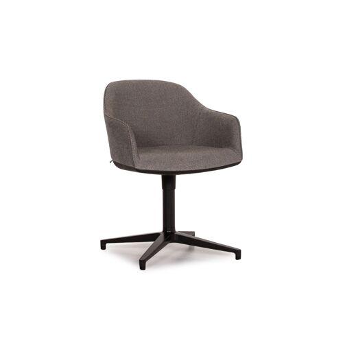 Vitra Softshell Stoff Sessel Grau Drehbar Stuhl #13812