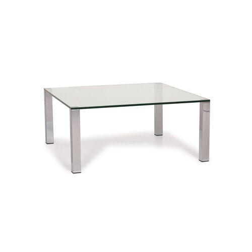 Draenert Glas Tisch Silber Couchtisch #15068