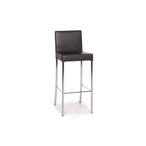 Walter Knoll Leder Barhocker Anthrazit Grau Stuhl #15141
