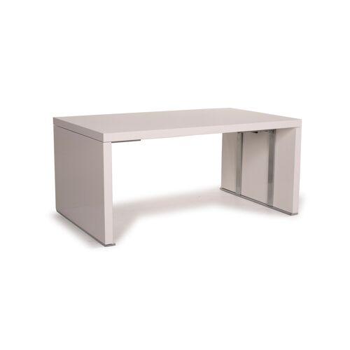 ligne roset Holz Tisch Weiß Esstisch Funktion erweiterbar #15268
