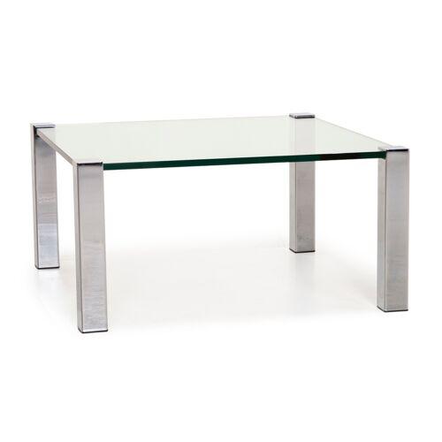 Draenert Sokrates Glas Couchtisch Metall Tisch