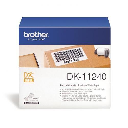 Brother DK-11240 Brother DK Tape 4in Etiketten Schwarz auf Wei? Original Brother