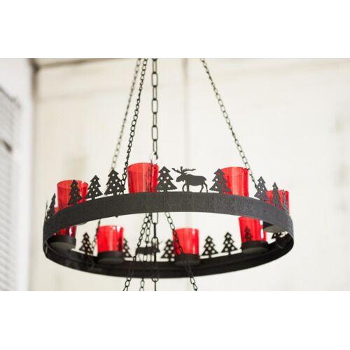 + Weihnachtskranz Metall mit roten Gläsern