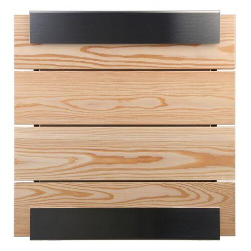 Keilbach Glasnost Briefkästen Holz Lärche ohne Beschriftung